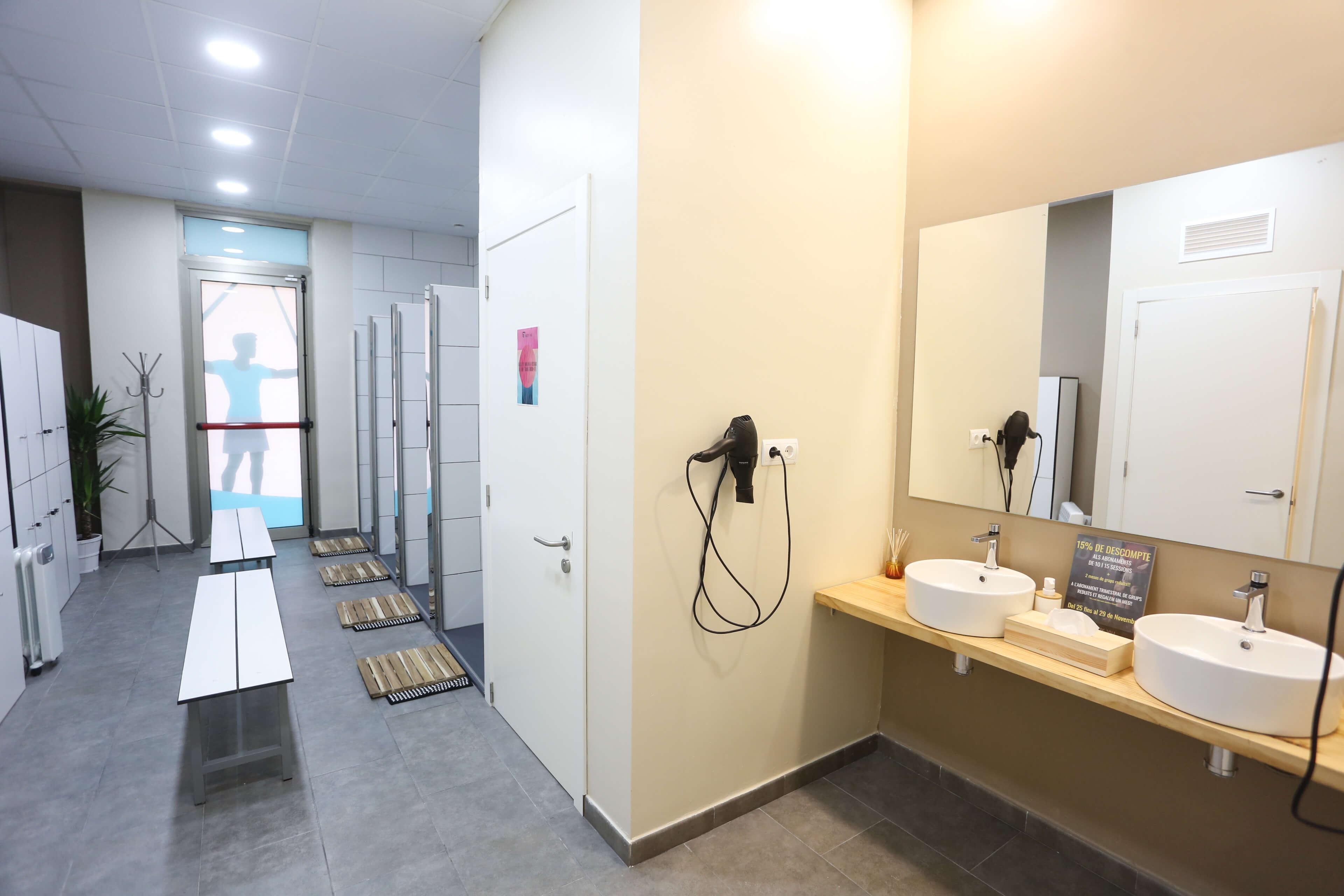 Detall dels vestidors que podràs trobar a les nostres instal·lacions