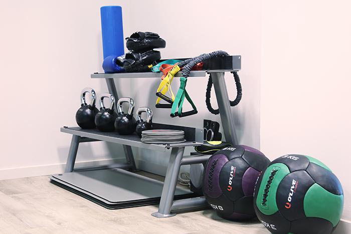 Imatge d'utensilis que serveixen per exercitar-se durant l'entrenament
