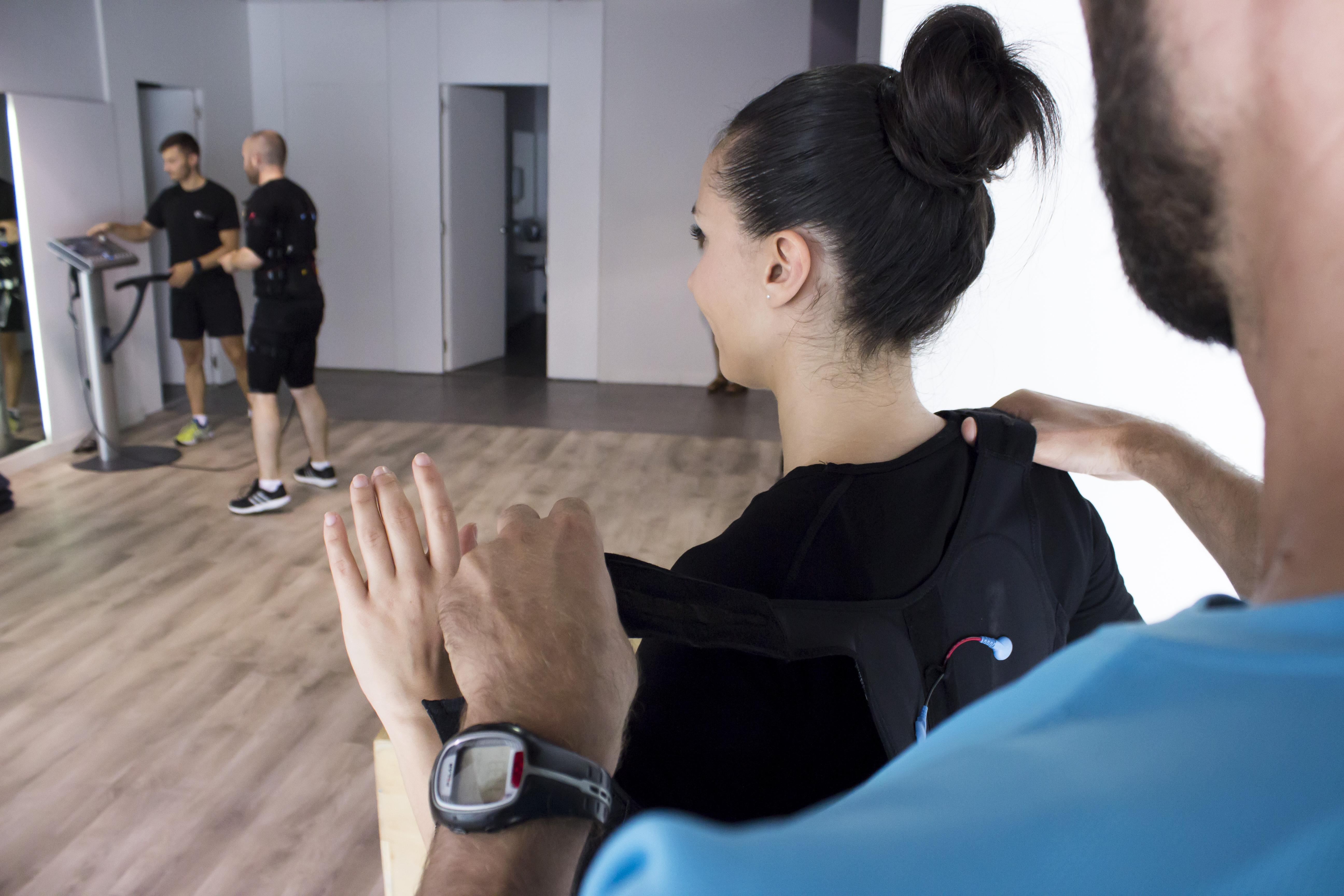 Imatge principal de la sala d'entrenament, on els nostres professionals us ajudaran a posar-vos en forma