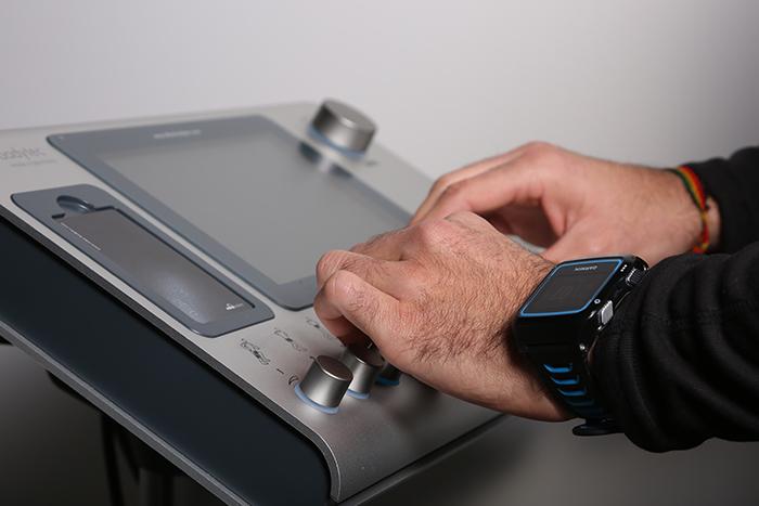 Panell de control de la màquina d'electroestimulació